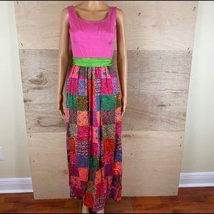 Vintage Marek New York Pink Floral Dress